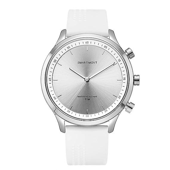 Relojes de Pulsera Reloj Inteligente Bluetooth Fitness Tracker Aguja Luminosa Smartwatch con Podómetro para Teléfonos Android iOS para Hombre Mujer ...