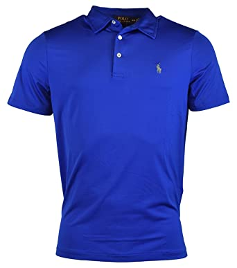 30ab16b6 Image Unavailable. Image not available for. Color: Polo Ralph Lauren Mens  Performance Polo Shirt (X-Small, Sapphire Blue)