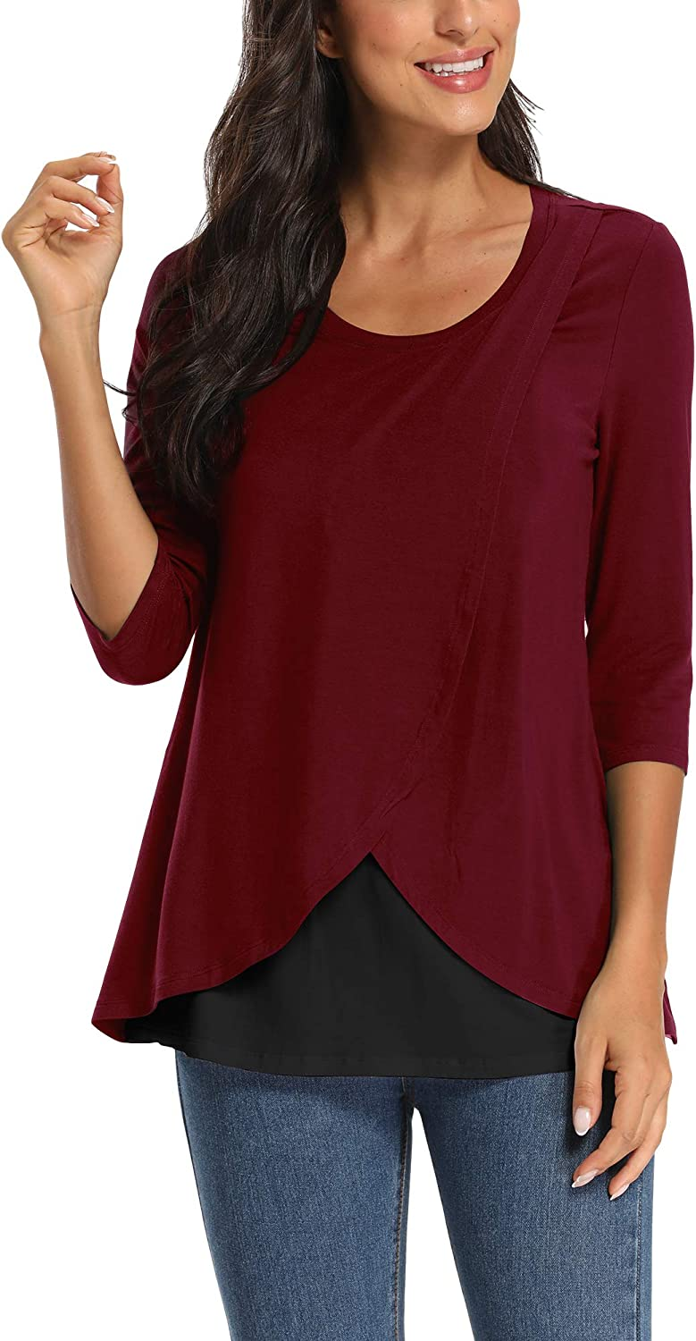 Pacbreeze Women S Maternity Shirt Nursing Tops For Breastfeeding Comfy Maternity Clothes At Amazon Women S Clothing Store