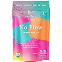 Pink Stork No Flow Tea: Hibiscus Mint, Organic Sage Tea, USDA Organic, Naturally Reduce Breast Milk Production + Supply, Women-Owned, 30 Cups