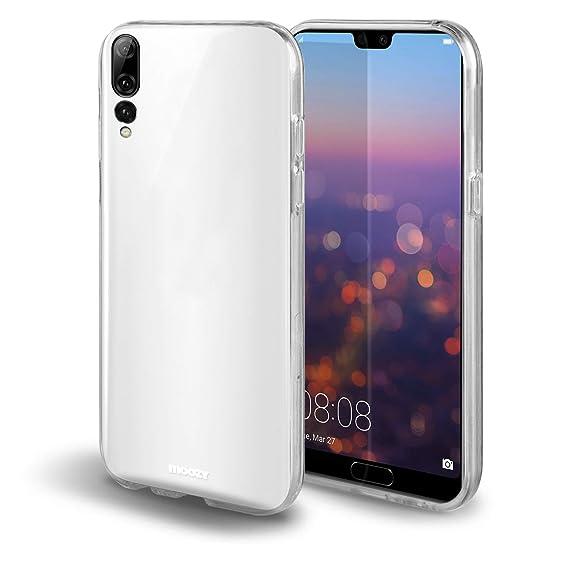 Moozy Funda 360 Grados para Huawei P20 Pro Transparente Silicona - Full Body Case Carcasa Protectora Cuerpo Completo