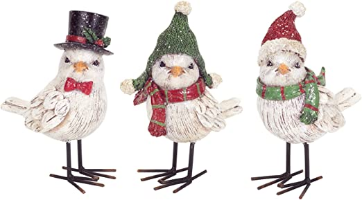 Blossom Bucket Christmas Ornaments--Set of 3 Dogs with Hats /& Scarves~~SO CUTE~~