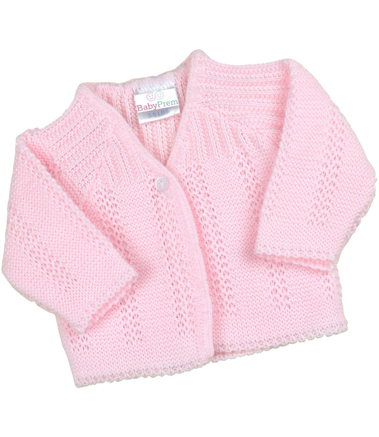 BabyPrem Premature Baby Cardigan Jacket Boy Girl Buttons Soft Knitted 3-8lb BEE024