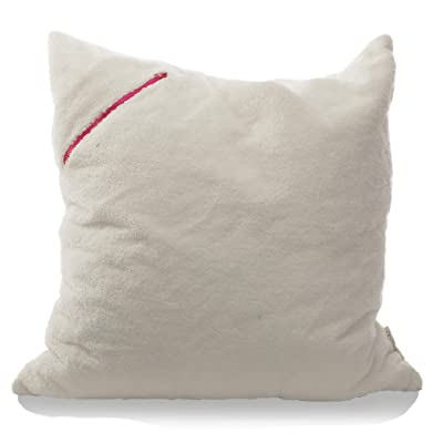 mimish Storage X-Large Floor Pillow - Storage for Books, Remotes, Tablets and More - Sherpa, Vanilla Bean: Home & Kitchen