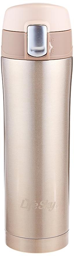 LifeSky aislante Viaje Taza De Café (Acero Inoxidable, 16oz), sin BPA | bloqueo de la tapa evita derrames y salpicaduras
