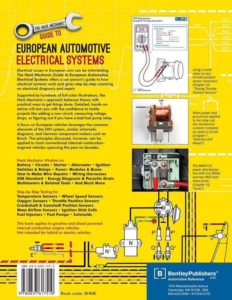 The hack mechanic guide to european automotive electrical systems the hack mechanic guide to european automotive electrical systems rob siegelbentley publishers 9780837617510 amazon books fandeluxe Image collections