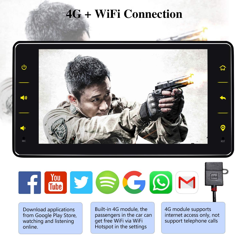 64GB Autoradio mit 4G LTE JOYFORWA 7 Zoll Single Din 4GB Android 8.1 Autoradio SPDIF DSP Fast Boot Android Auto WiFi-Verbindung