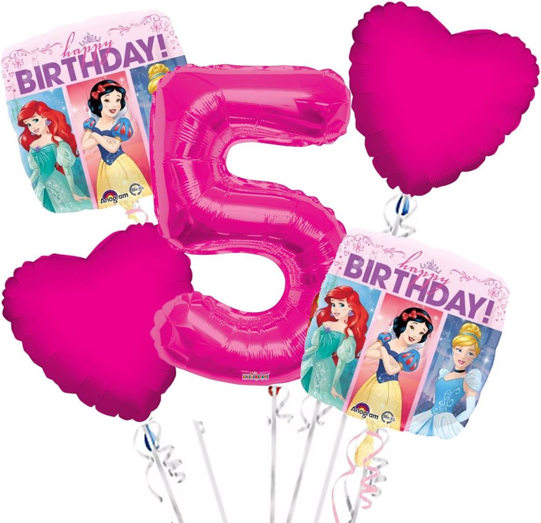 Party Supplies Anagram Princess Balloon Bouquet 1st Birthday 5 pcs