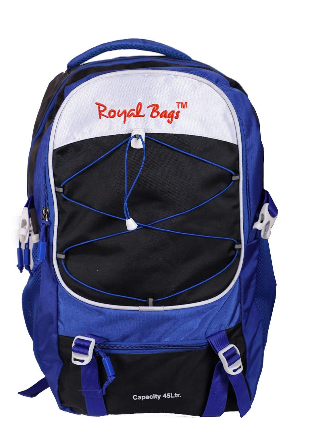 4957923f4ec Royal Bags PU Coated Black Camping Rucksack Bag