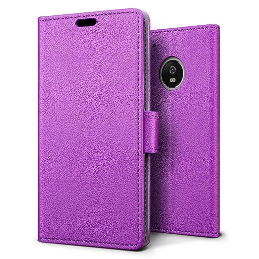2 opinioni per Custodia Motorola Moto G5 Plus, SLEO [Premium Portafoglio Protettiva] Wallet