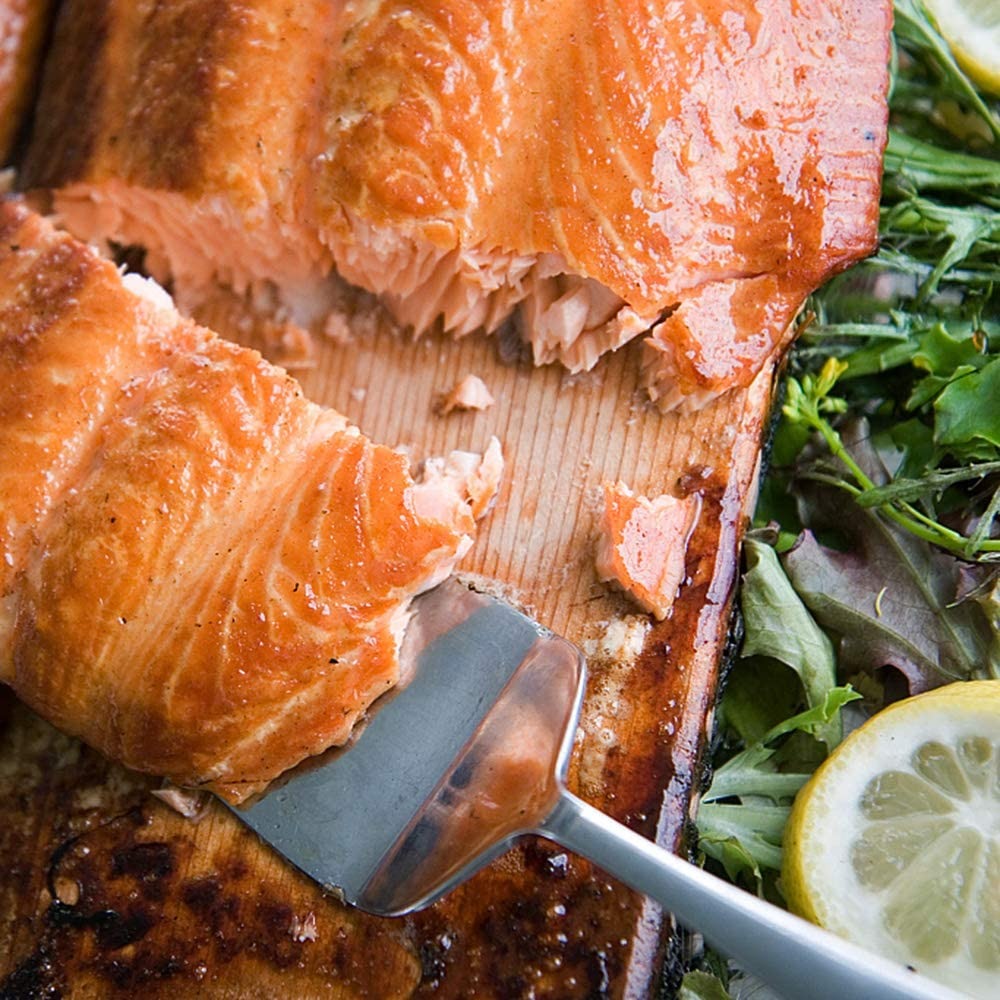 Fruits de mer Paquet de 12 Walmeck Planches /à Griller en c/èdre pour darnes de Saumon moelleuses et savoureuses