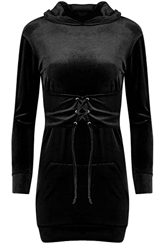 Fashion Star - Vestito - Maniche lunghe - Donna nero Black