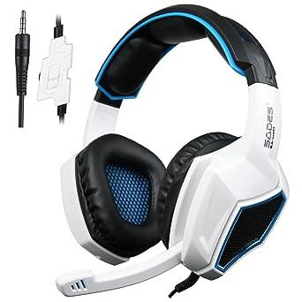 Auriculares Gaming para PS4 PC,Sades SA920 Cascos Ruido Reducción de Diademas Cerrados Profesional con