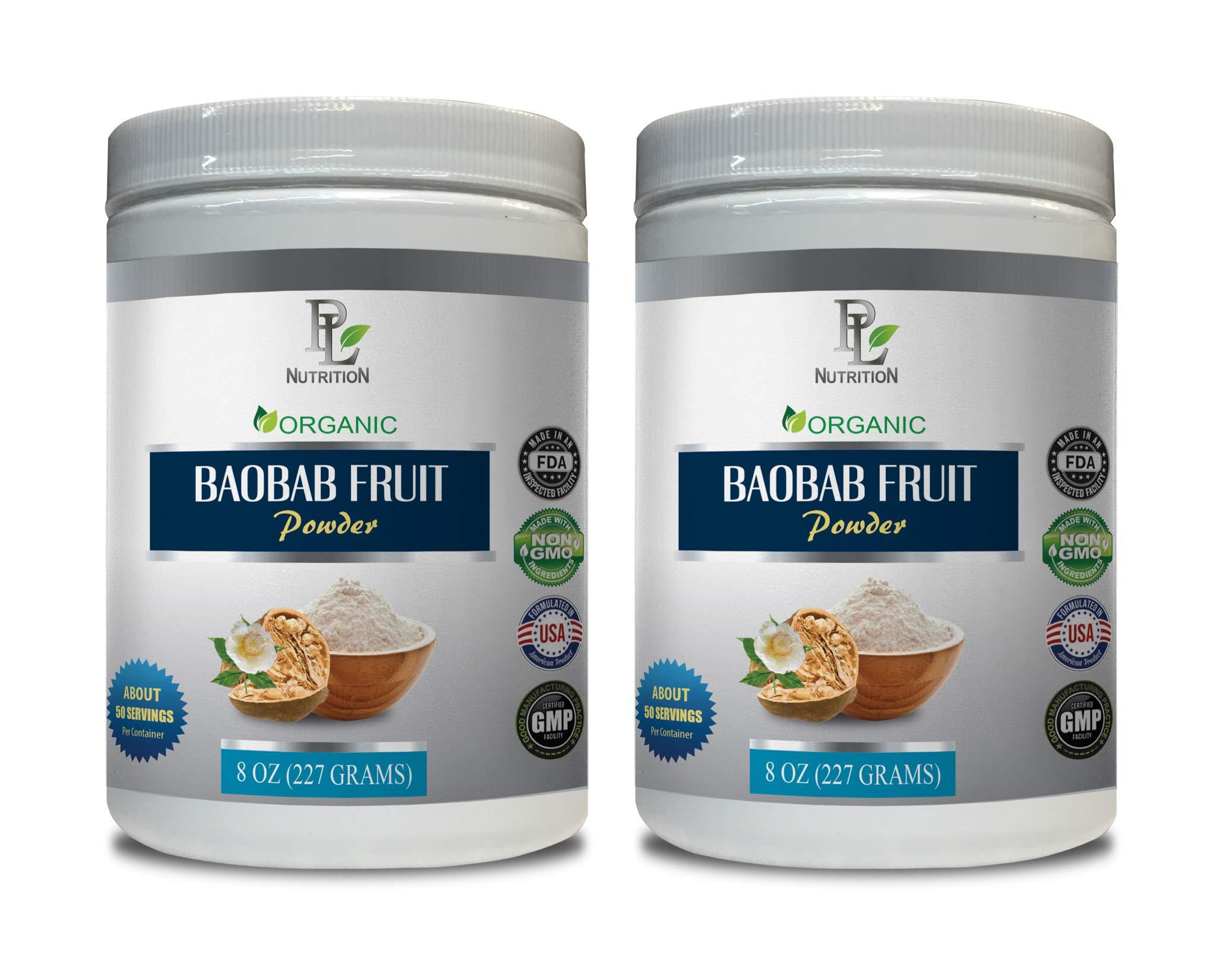 antioxidant Water Booster - Baobab Fruit - Organic Powder - Baobab Fruit Anti Aging - 2 Cans 16 OZ (100 Servings)
