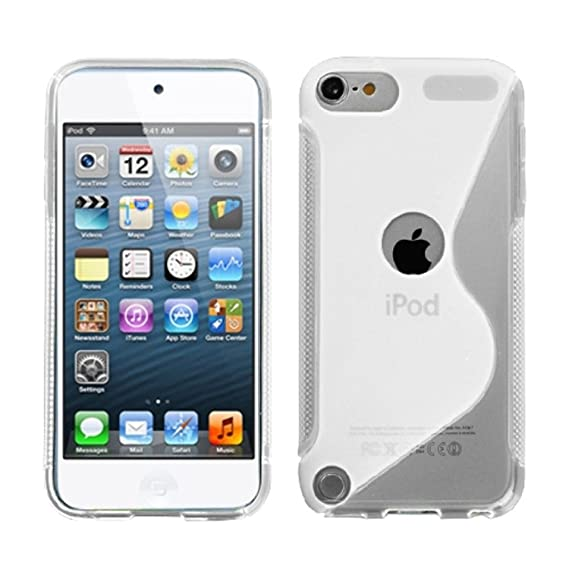 87d79a575a Image Unavailable. Image not available for. Color: MYBAT Unique S Shape  Protective Case for iPod touch 5 (Transparent Clear)