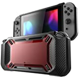 Amazon Price History for:Mumba case for Nintendo Switch, [Heavy Duty] Slim Rubberized [Snap on] Hard Case Cover for Nintendo Switch 2017 release (Red/Black)