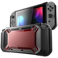 Mumba Nintendo Switch Hülle, [Rugged] Gummiert Case Harte Schutzhülle Schwerlast für die Nintendo Switch 2017 Ausgabe (Schwarz+Rot)