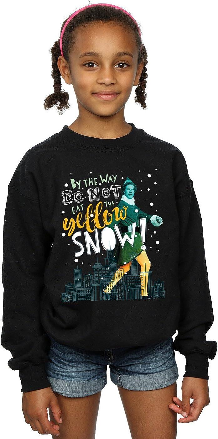 Elf Girls Yellow Snow Sweatshirt