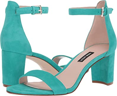 bc36fa4d5be Nine West Women s Pruce Block Heeled Sandal Green 5 ...