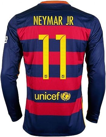 Nike 2015-16 FC Barcelona #11 Neymar casa restyle camisa de ...