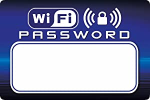 "Voisin Products WiFi Password Dry-Erase Refrigerator Magnet - Useful for Guests/Vacation Rentals (4"" X 6"")"