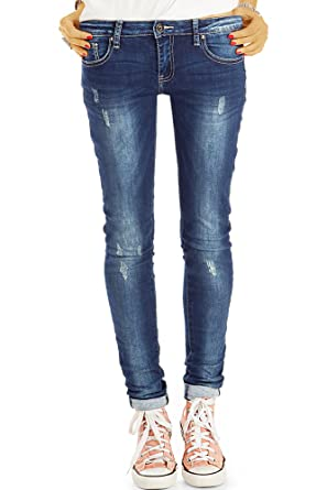 648f41cc47ee Bestyledberlin Damen Enge Jeans, Hüftige Röhrenjeans, Aufgeraute ...