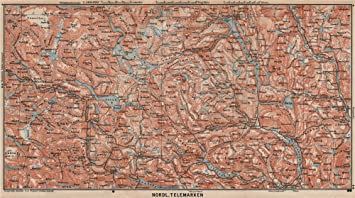 Amazoncom NORTH TELEMARKEN Topomap Kongsberg Dalen Bakken - Norway map amazon