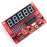 Counter - TOOGOO (R) 50 MHz Crystal Oscillator Frequency counter Testers DIY Kit 5 Resolution Digital Red