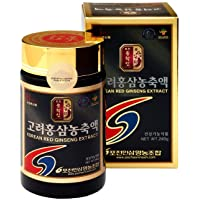 Pocheon 240g(8.5oz), 100% Pure Korean 6 Years Root Panax Red Ginseng Extract Gold...