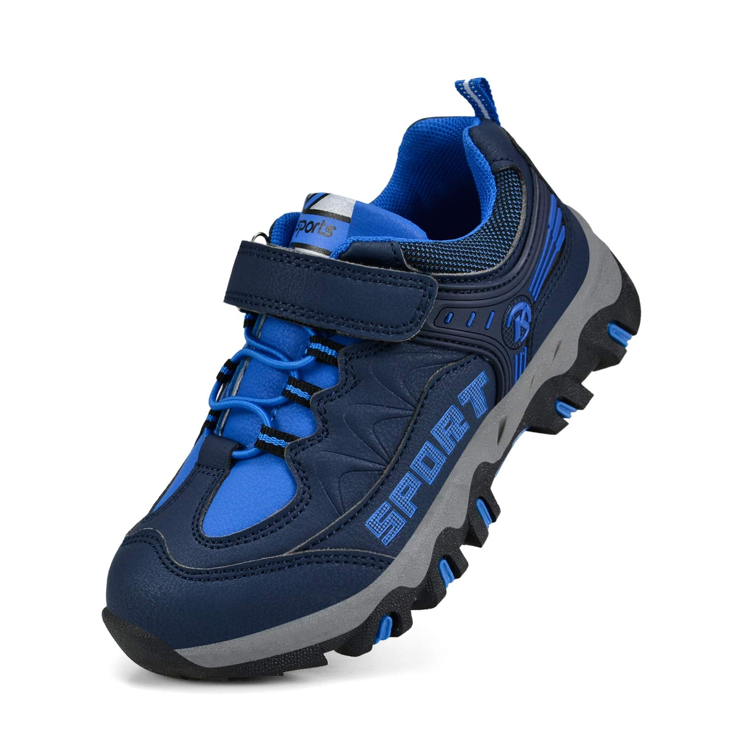 MARSVOVO Kids Sneakers Waterproof Outdoor Non-Slip Hiking Running Shoes Navy Blue 4 M US by MARSVOVO