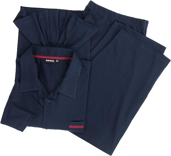 Blu Dimensioni Fino 10XL ADAMO Lungo Pantaloni Pigiama in der Colore