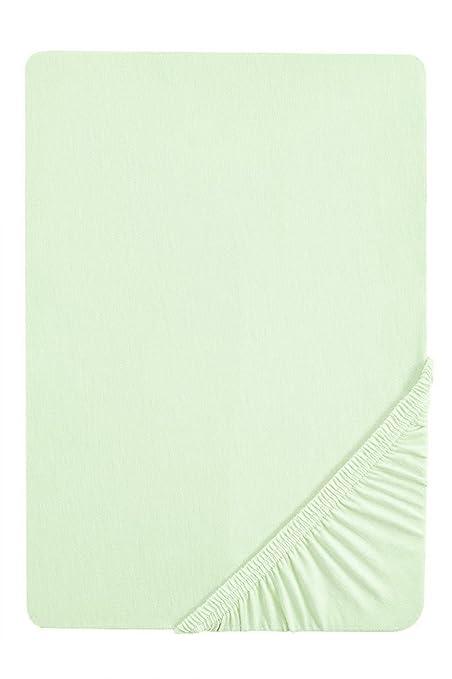 11 opinioni per Biberna, Lenzuolo con angoli in Jersey elasticizzato, Verde (mint), 140 x 200