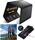 WISSBLUE Solar Panel Charger 21W/60W, Dual USB 4.2A Fast Solar Charger, Portable Camping Travel Charger,Hiking,Hurricane…
