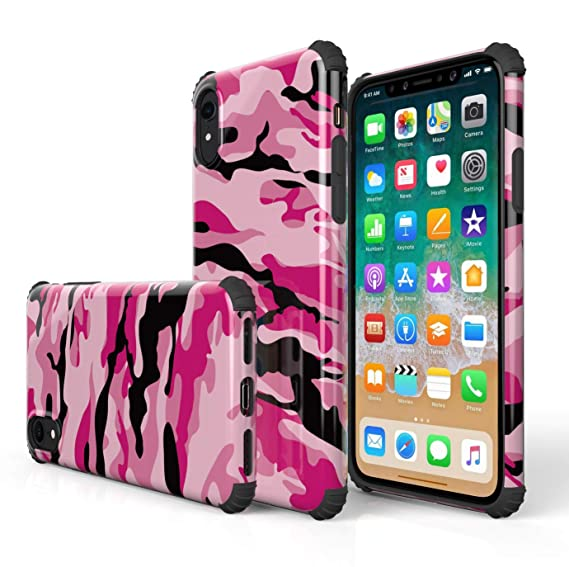 red camo iphone xr case