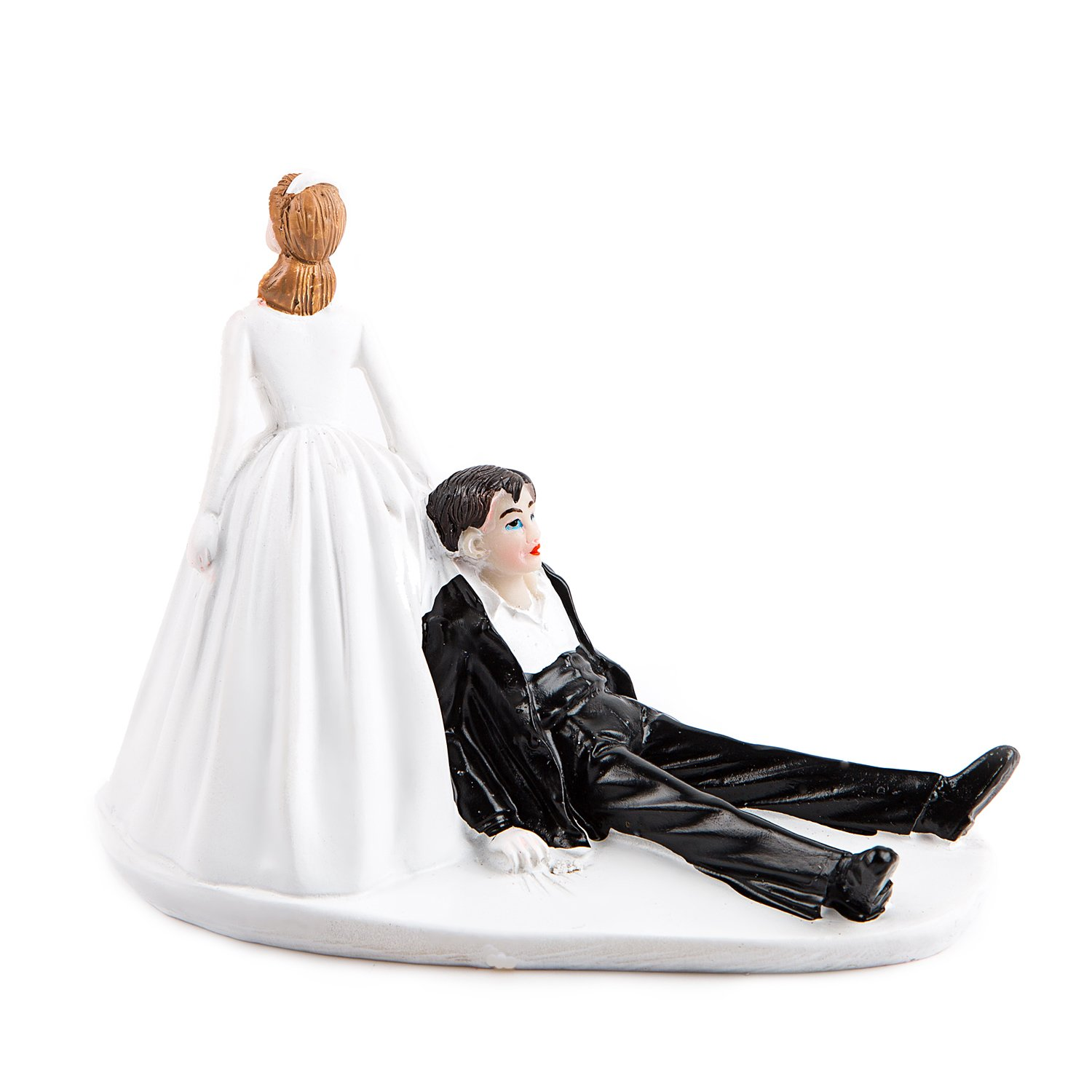 Bride and Groom Wedding Cake Topper Funny The Mad in