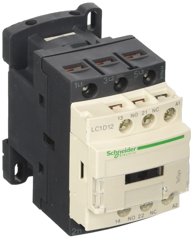 Schneider Electric LC1D12V7 contacteur TeSys LC1-D, 3P, 12 A, 440VAC-3, bobine 400 VCA, 50/60 Hz