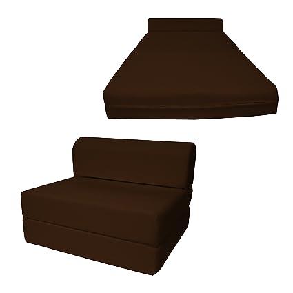 Du0026D Futon Furniture Brown Sleeper Chair Folding Foam Bed Sized 6u0026quot; Thick X 32u0026quot;  sc 1 st  Amazon.com & Amazon.com: Du0026D Futon Furniture Brown Sleeper Chair Folding Foam Bed ...