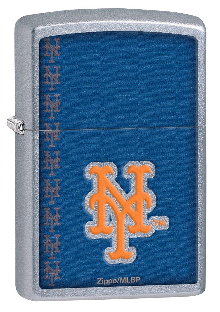 Zippo MLB New York Mets Street Chrome Pocket Lighter Zippo Manufacturing Company 29117