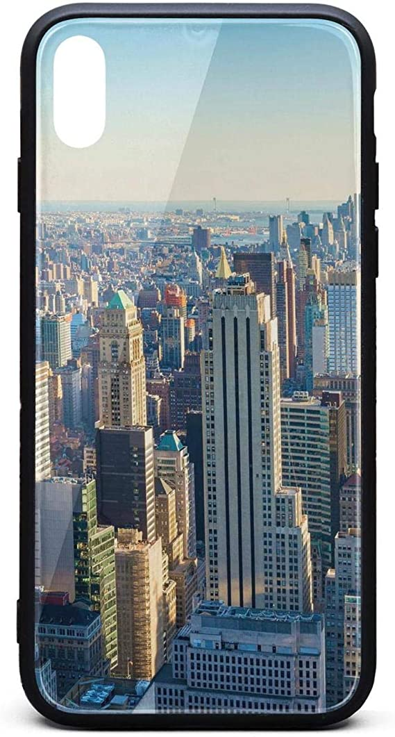 Amazon Com Phone Case For Iphonexs Max Vintage New York City Wallpaper Tempered Glass Black Anti Scratch Tpu Rubber Bumper Shock Skin For Women S Back Cover