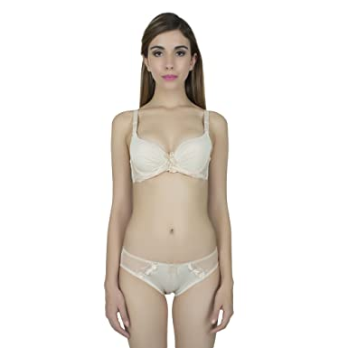 f97c71dd0c4ab pearlfly Bridal Bra Panty Bikini Set  Amazon.in  Clothing   Accessories