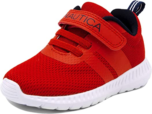 Nautica Kids Boys Lace-Up Fashion Sneaker Breathable Athletic Running Shoe Toddler//Little Kid