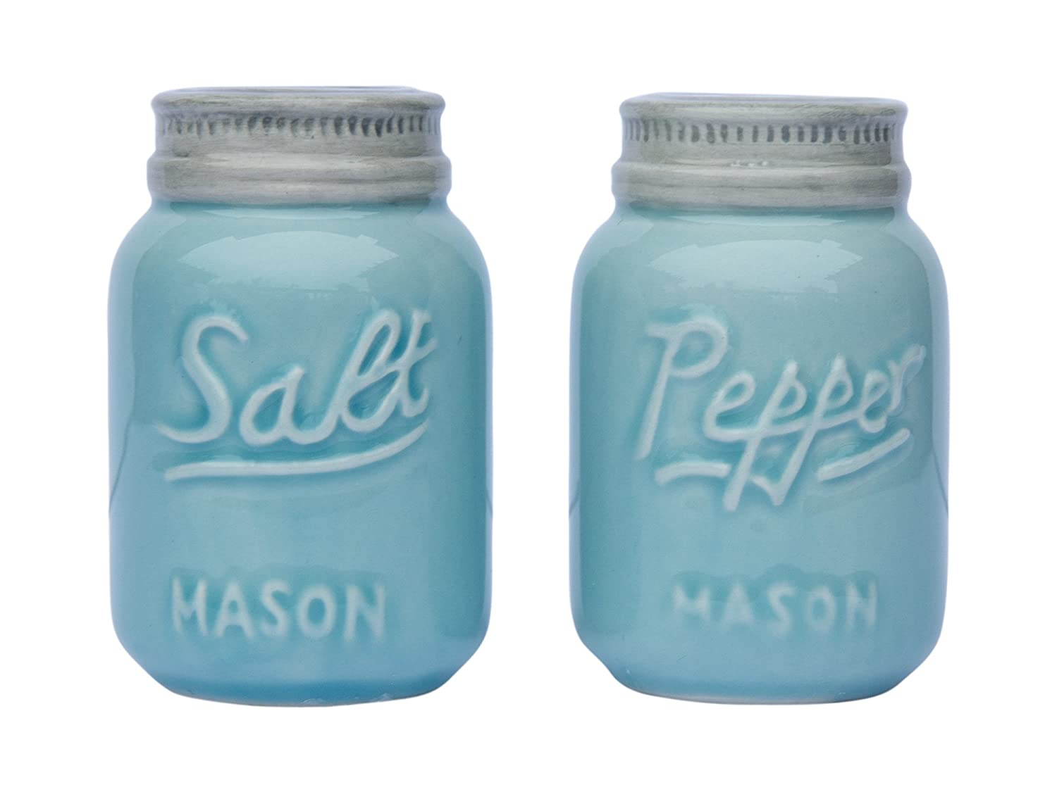 Vintage Mason Jar Salt Pepper Shakers Rustic Kitchen