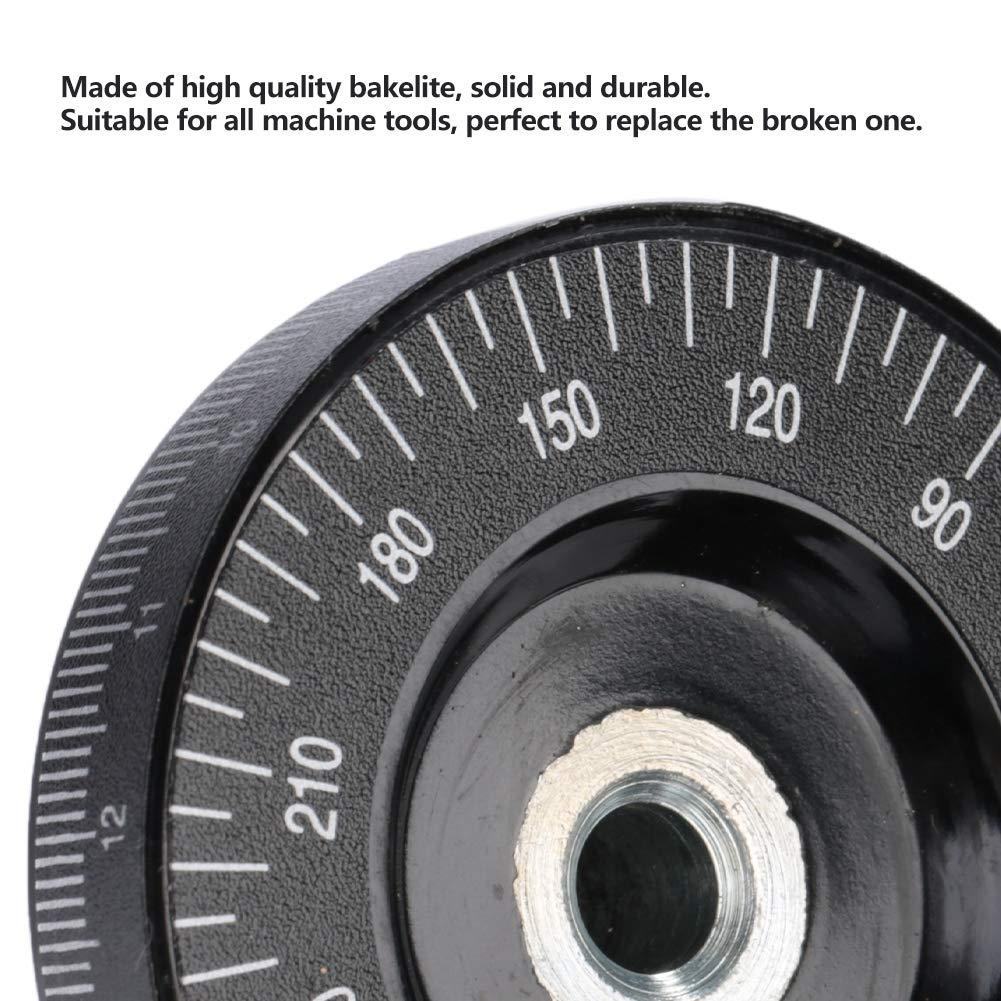 1 piezas Escala Volante angular Baquelita Fresa Rueda de mano Piezas mec/ánicas Especificaciones 8 63 mm