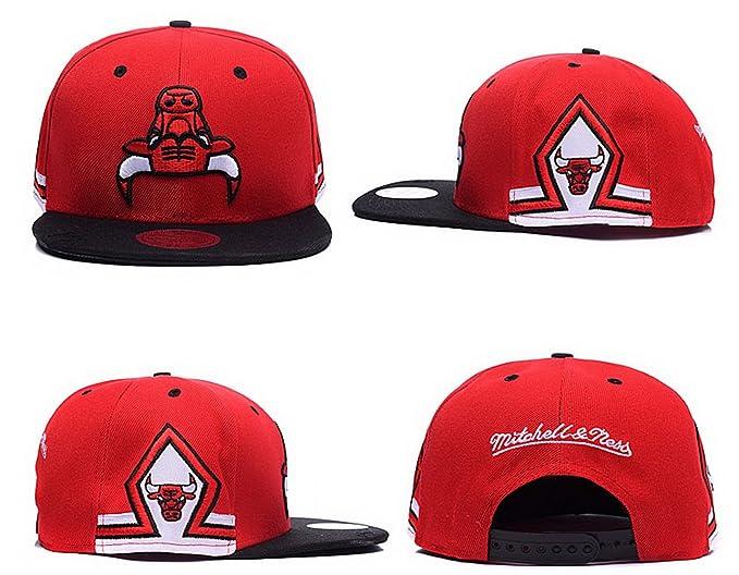 Béisbol Chicago Bulls Gorra rojo 2- Sr./Sra personalizado logotipo Snapback sombreros casquillo