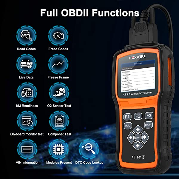 Foxwell NT630 Plus bi-directional scan tool supports full OBD2 functions