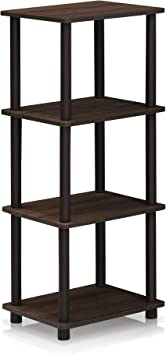 Furinno Turn N Tube Shelf 3 Space Walnut Brown Furniture Decor