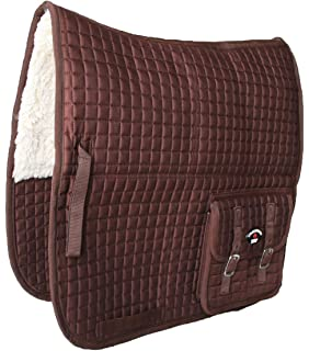 Australian Saddle Pad Outrider Collection Deluxe Fleece Brown