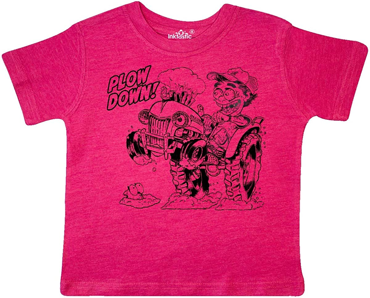 inktastic Hot Roddin Rod on a Tractor Plow Down Toddler T-Shirt