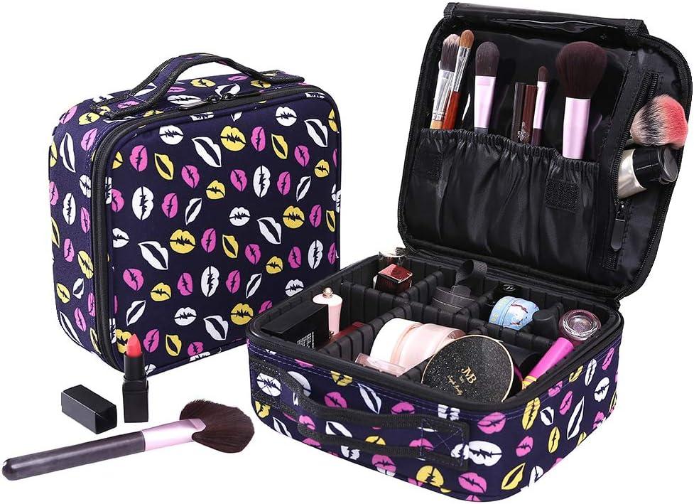 Neceser Mujer Maquillaje de Violeta Caja de Maquillaje Organizador A Brochas de Maquillaje Estuches Portatil Cosmeticos Bolsa Neceser De Viaje (Violeta): Amazon.es: Equipaje