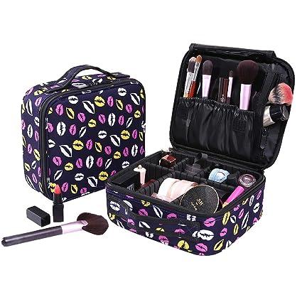 Poleonmor Neceser Maquillaje Impermeable Bolsa de Maquillaje Organizador A Brochas de Maquillaje Estuches Portatil Cosmeticos Bolsa Neceser De ...